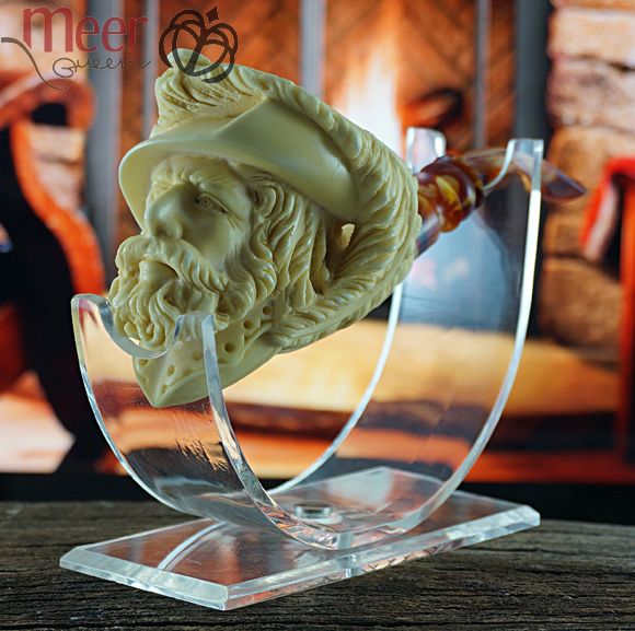 Cavalier Block Meerschaum Pipe|Double Stem