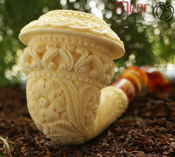 Topkapi Calabash Block Meerschaum Pipe by Medet |GOLDEN SERIES