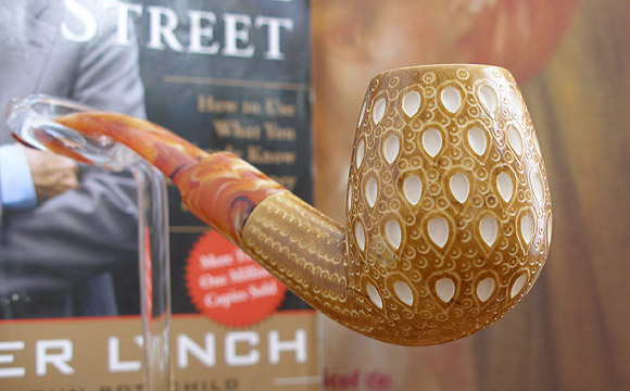 Lattice Classic Block Meerschaum Pipe |DIAMOND SERIES