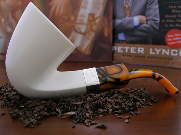 Snob Block Meerschaum Pipe by Tekin |DIAMOND SERIES