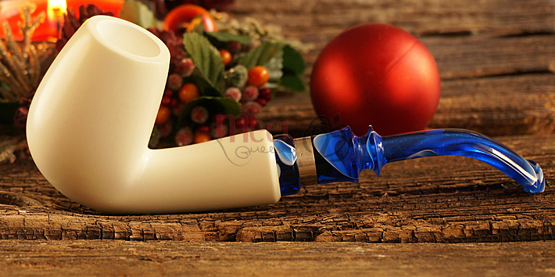 Classic Block Meerschaum Pipe by Tekin|DIAMOND SERIES