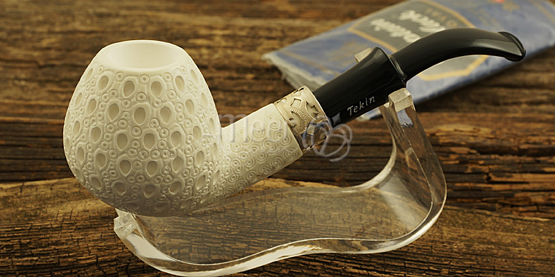 Lattice Classic Block Meerschaum Pipe by Tekin |DIAMOND SERIES