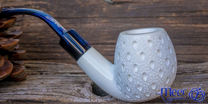 Classic Block Meerschaum Pipe by Tekin |DIAMOND SERIES