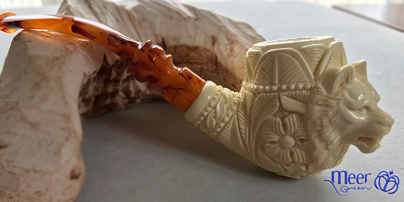 Wolf Block Meerschaum Pipe by Salim |Golden Series