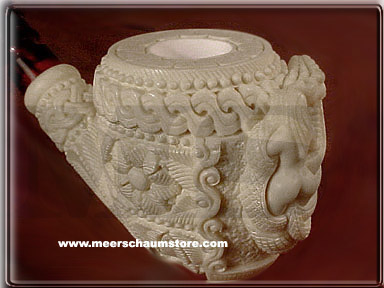 Dragon & Nude Meerschaum Pipe