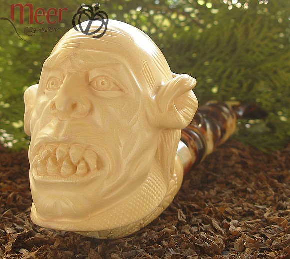 Orc Meerschaum Pipe | Lord of the Rings by I.Baglan