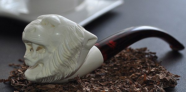 Tiger Block Meerschaum Pipe