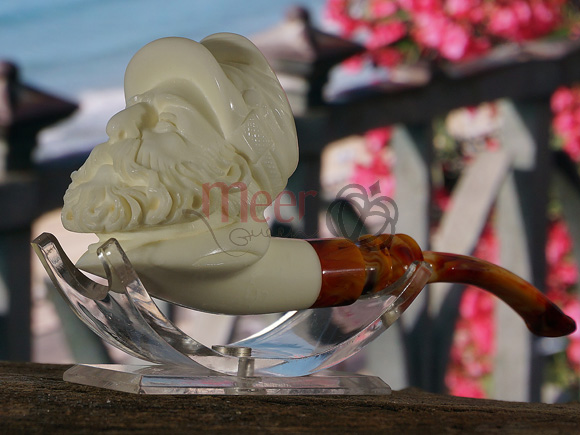 Southern Civil War Soldier Meerschaum Pipe by Cevher |GOLDEN SERIES